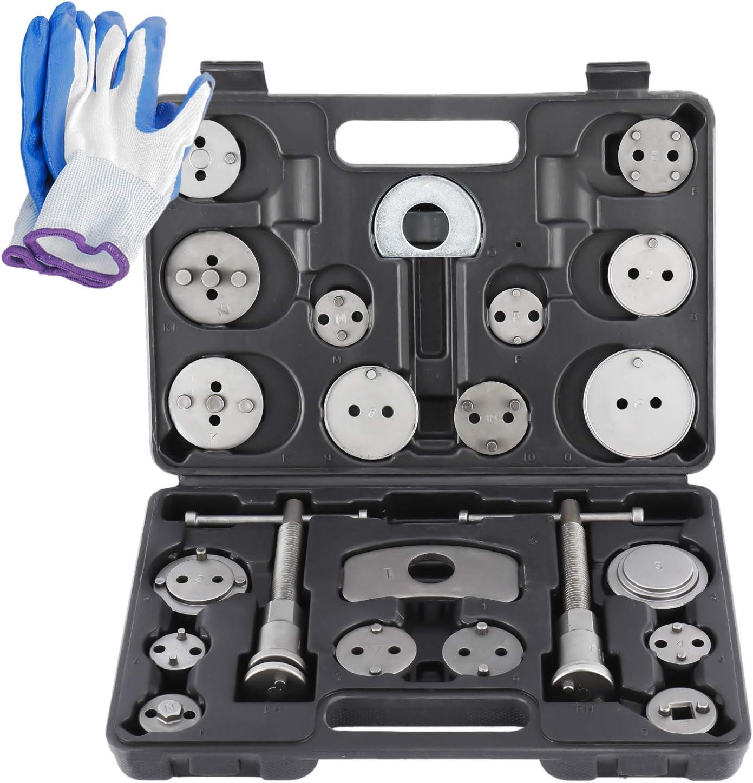 8MILELAKE 22pcs Disc Brake Caliper Wind Back Tool Kit
