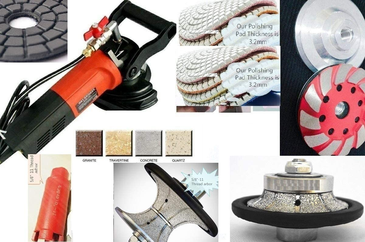 """1 1//2/"""" 40mm Full Bullnose Router 1 3//8/"""" 1 1//2/"""" Core Bit 4/"""" Grinding cup concrete"""