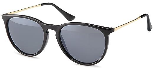 Lunettes de soleil vintage des années 60 dans un style branché avec la mode des temples métalliques couleur bronze lunettes tendances 2014 (leopardenmuster_Verlaufsglas) pxae0gauNz