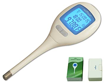 Easy@Home Digital Oral Basal Thermometer with Large Backlit LCD display and 1/100th