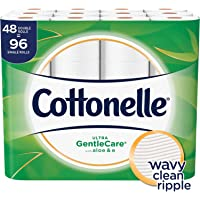 Cottonelle Ultra GentleCare Toilet Paper, Sensitive Bath Tissue with Aloe & Vitamin E, Packaging may Vary (48 Double Rolls)