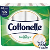 Cottonelle Ultra GentleCare Toilet Paper, 48 Double Rolls, Sensitive Bath Tissue with Aloe & Vitamin E