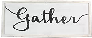 """Young's 23.5"""" x 1"""" x 9.5"""" Inc Wood Gather Wall Sign"""