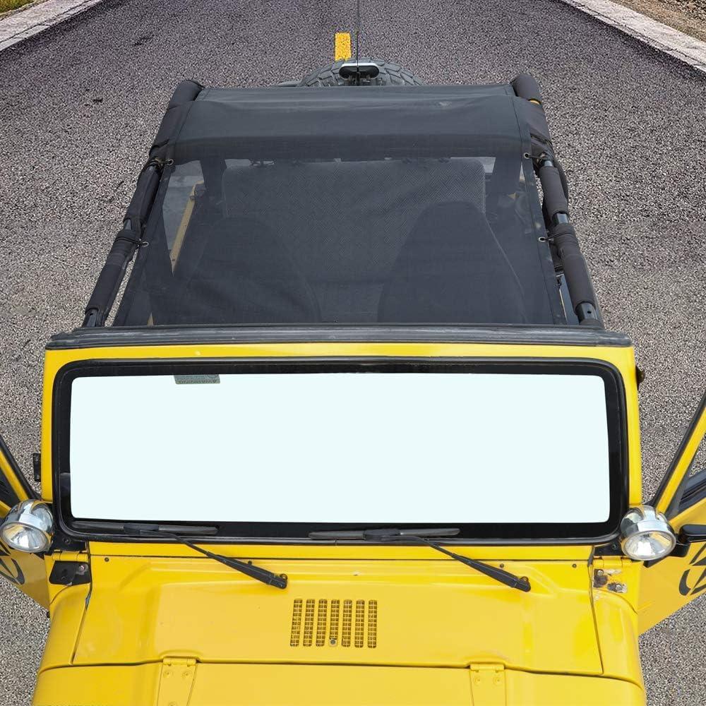 L/&U La Cubierta Superior de Malla Original de poli/éster Duradero Brinda protecci/ón Solar contra Rayos UV para el Jeep Wrangler TJ 1997-2016,Fivepointedstar