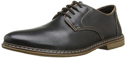 Rieker 10822 - Zapatos con Cordones de Cuero Hombre, Color Negro, Talla 41