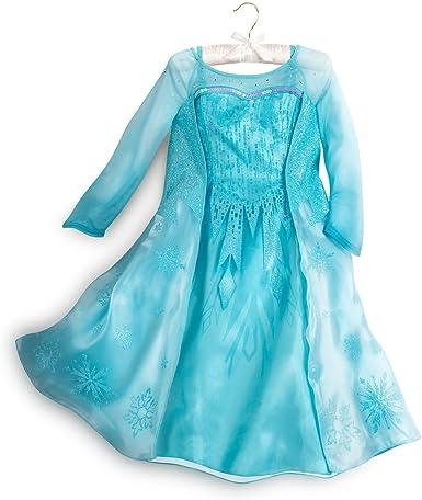 Disney Store Auténtico Frozen disfraz de Elsa Vestido Vestido de ...