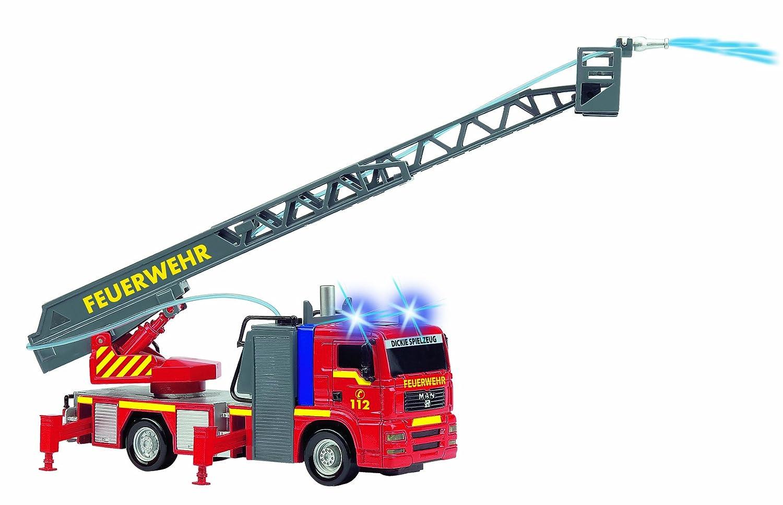 Dickie Feuerwehr Auto Feuerwehrauto Feuerwehrwagen Feuerwehrfahrzeug Leiterwagen