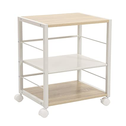 songmics serving cart with lockable caster wheels 3 tier rolling kitchen cart utility storage - Kitchen Cart On Wheels