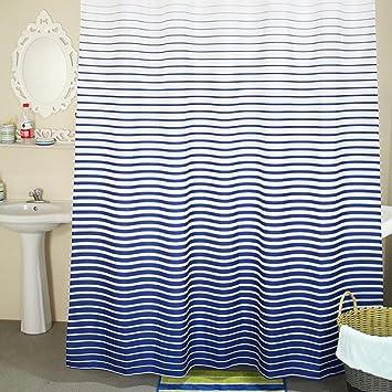 Hochwertiger Duschvorhang --- Blaues Badezimmer Duschvorhang ...