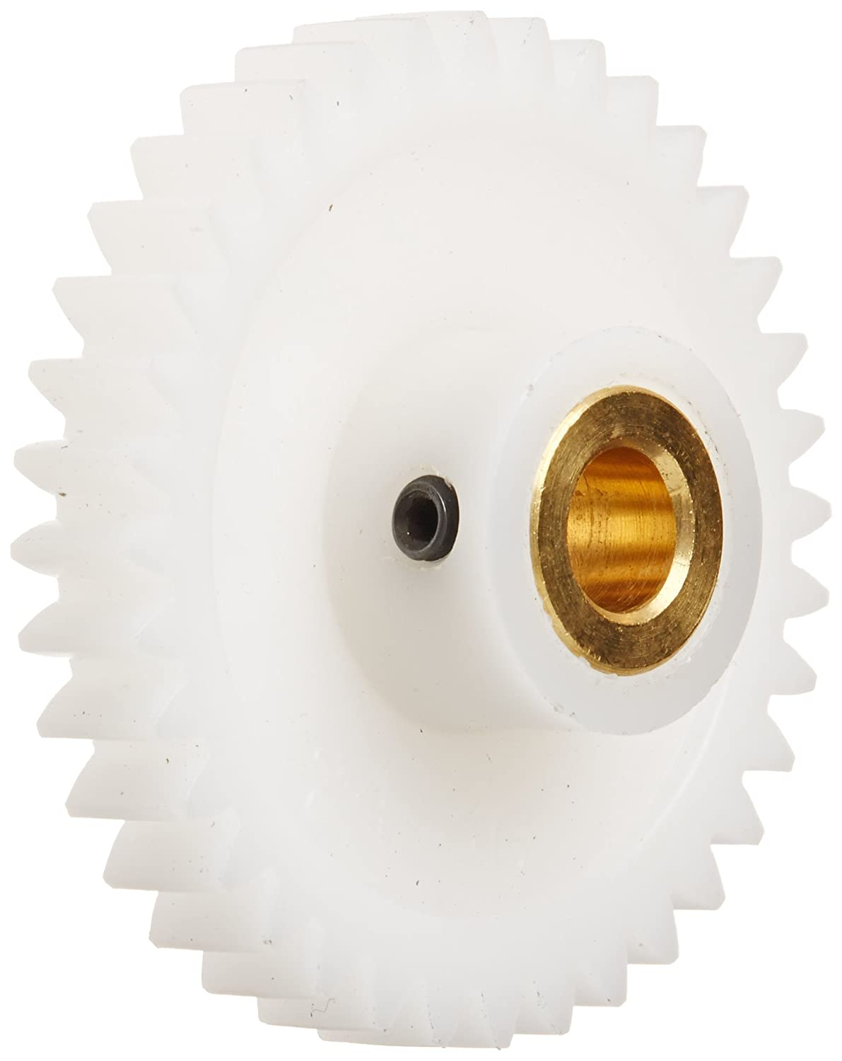 Inch 24 Pitch 1.583 OD Boston Gear YPB2436 Spur Gear 0.250 Face Width 0.250 Bore Molded Delrin with Brass Inserts 36 Teeth