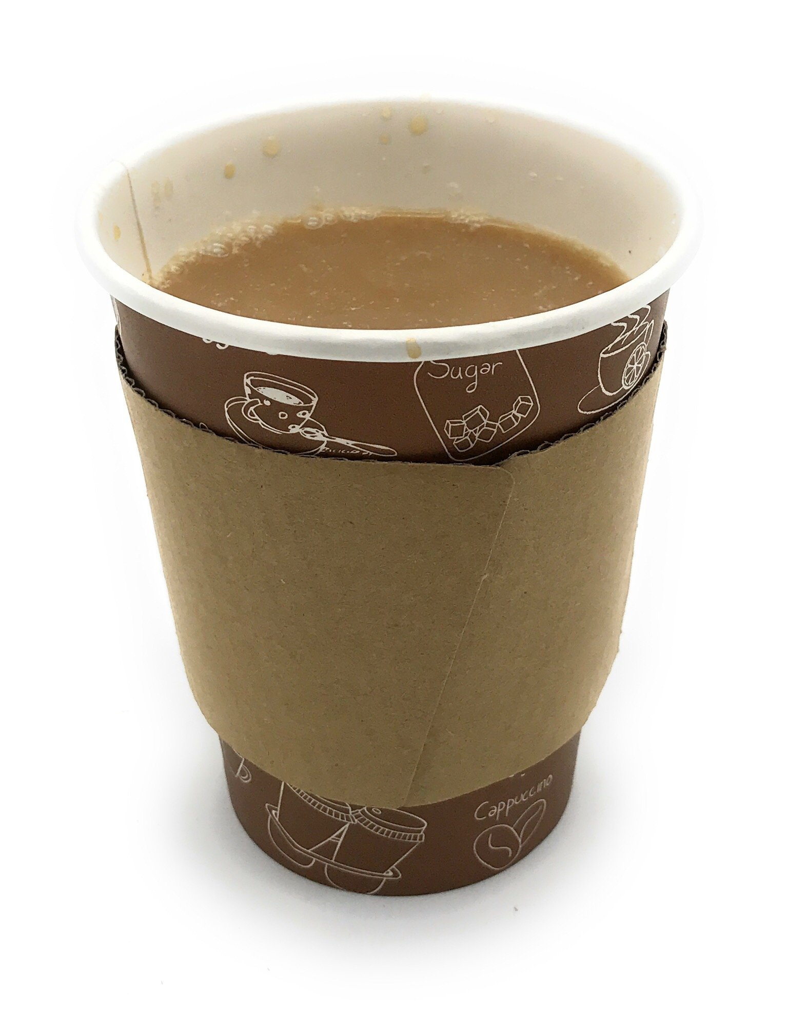 [5950 Count] Disposable Corrugated Hot Cup Sleeves Java Jackets - Natural compostable Kraft Color Cup Sleeve Protective Heat Insulation Paper Plastic Cups hot Coffee Tea Chocolate Drinks Insulated by Harvest Pack (Image #6)