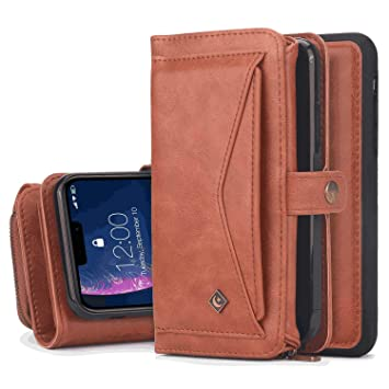 Cover for Leather Card Holders Extra-Protective Business Kickstand Wallet case Flip Cover iPhone X Flip Case