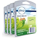 Febreze Wax Melts Air Freshener, Gain Original Scent, (4 packs, 6 count each)