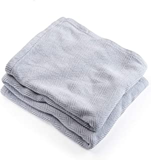 product image for Brahms/Mount Penobscot Blanket | Cotton - White - Twin Size
