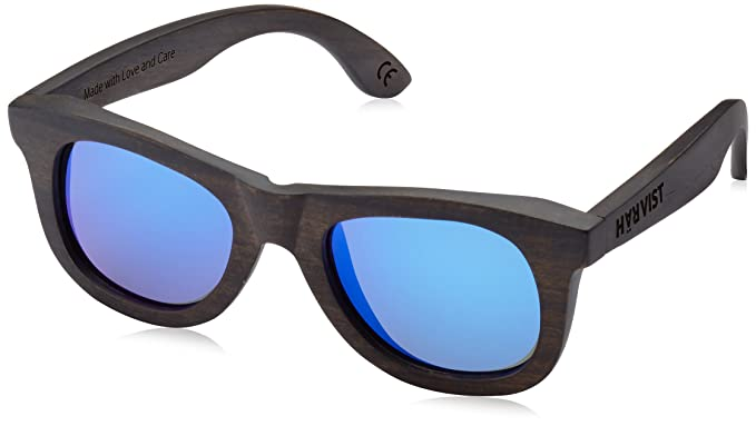 HÄRVIST Waywood - Gafas de sol de madera, unisex, color ébano