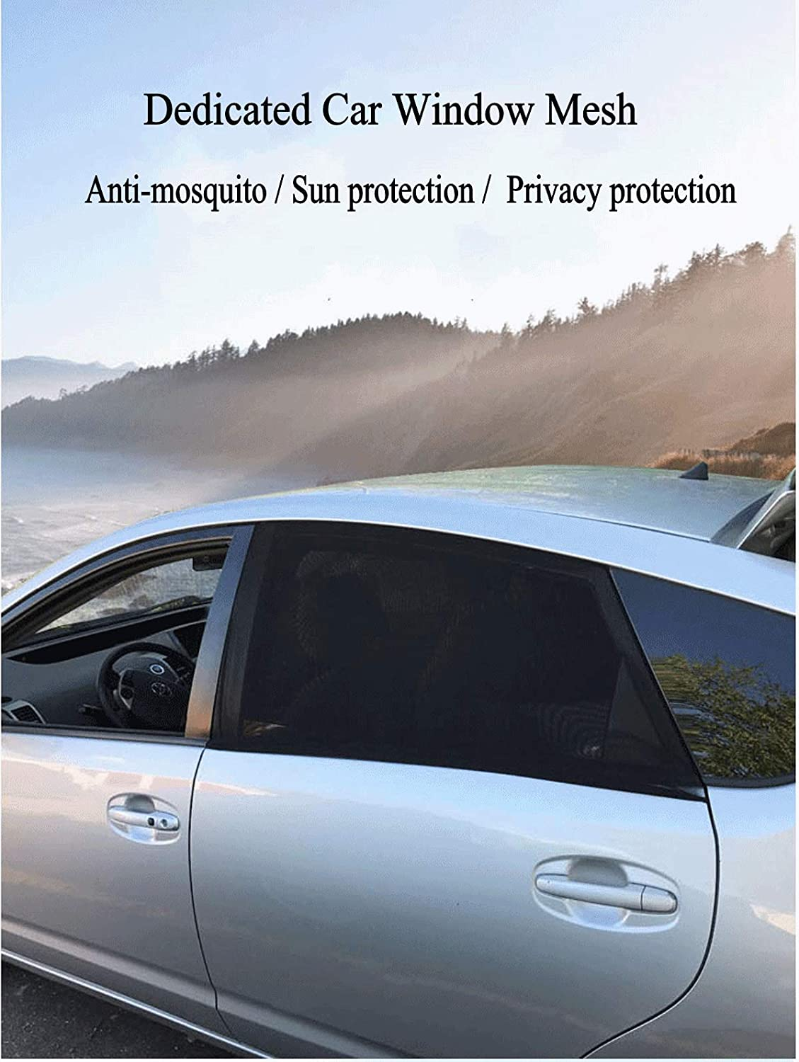 S Sunscreen Car Curtain Summer ZHONG AN Universal Sunscreen Car Baby 2 Pieces for Most Car Side Windows with UV Protection for Kids