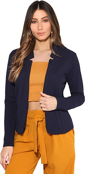 Krisp Blazer Mujer Trabajo Liso Chaqueta Elegante Barata Oficina Traje Tallas Grandes Amazon Es Ropa Y Accesorios