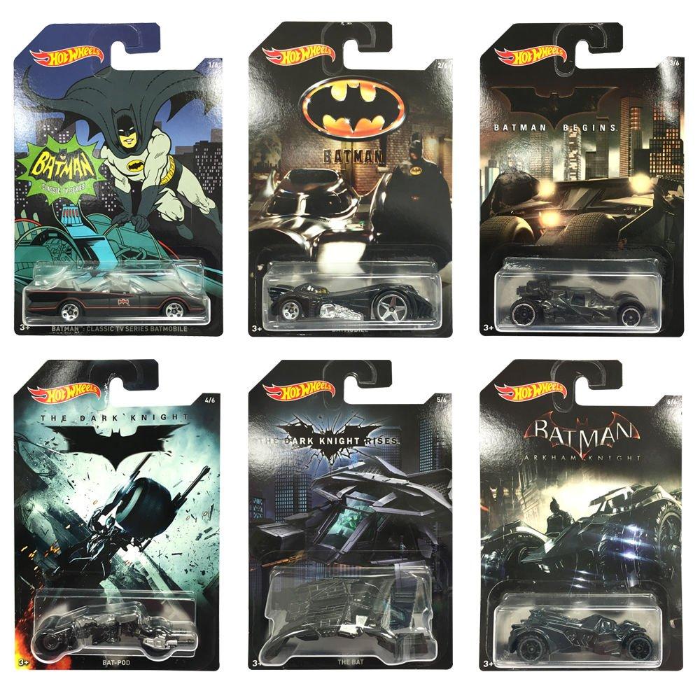 Hot Wheels Batman: Complete set of 6 Exclusive Collectors Diecast Cars