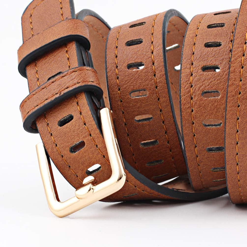 BeltKings Cintur/ón ancho casual para mujer Cintur/ón hueco sin aguja Cintur/ón de moda para mujer