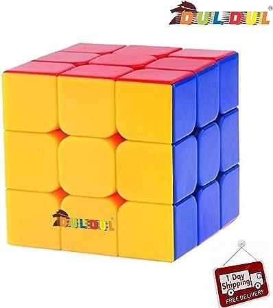 DUL DUL TamBoora Sticker Less Smooth Swing Rubiks Cube (3X3x3, Medium)