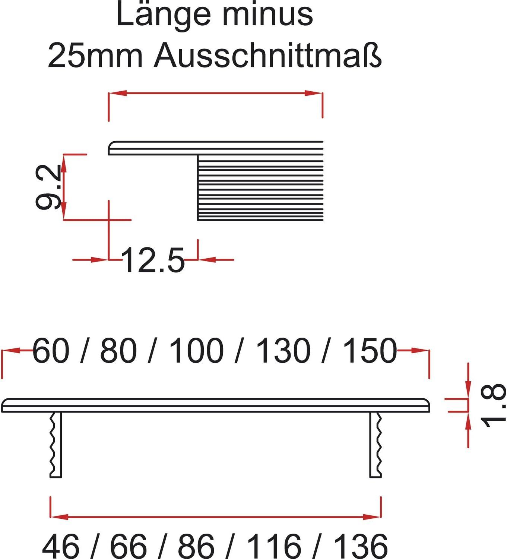 1 St/ück Alu Oberfl/äche: natur eloxiert SECOTEC L/üftungsgitter 100 x 400 mm