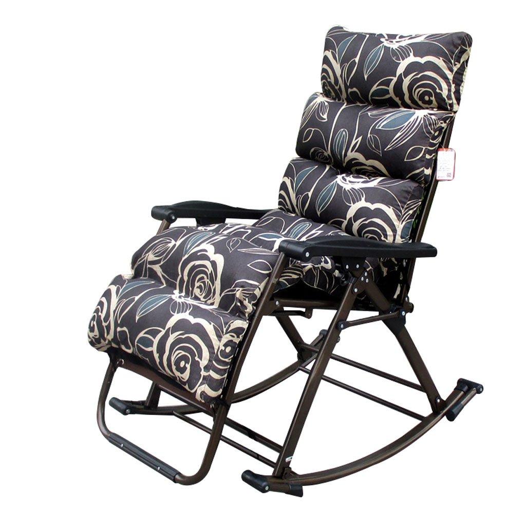 QRFDIAN Faltender Schaukelstuhl, im Freien beweglicher Schwerelosigkeitsstuhl im Freien kampierender fischender Strand, 150 Kilogramm (Farbe :  3)