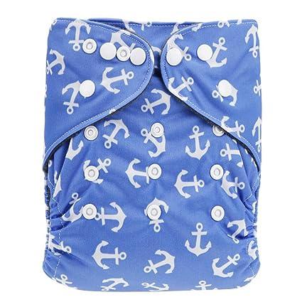 Baby Pañales Pañales de tela babums resistente al agua transpirable plástico pañales ajustable con botón de