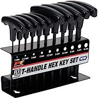 Performance Tool W80275 Conjunto de chaves hexagonais métricas, 10 peças