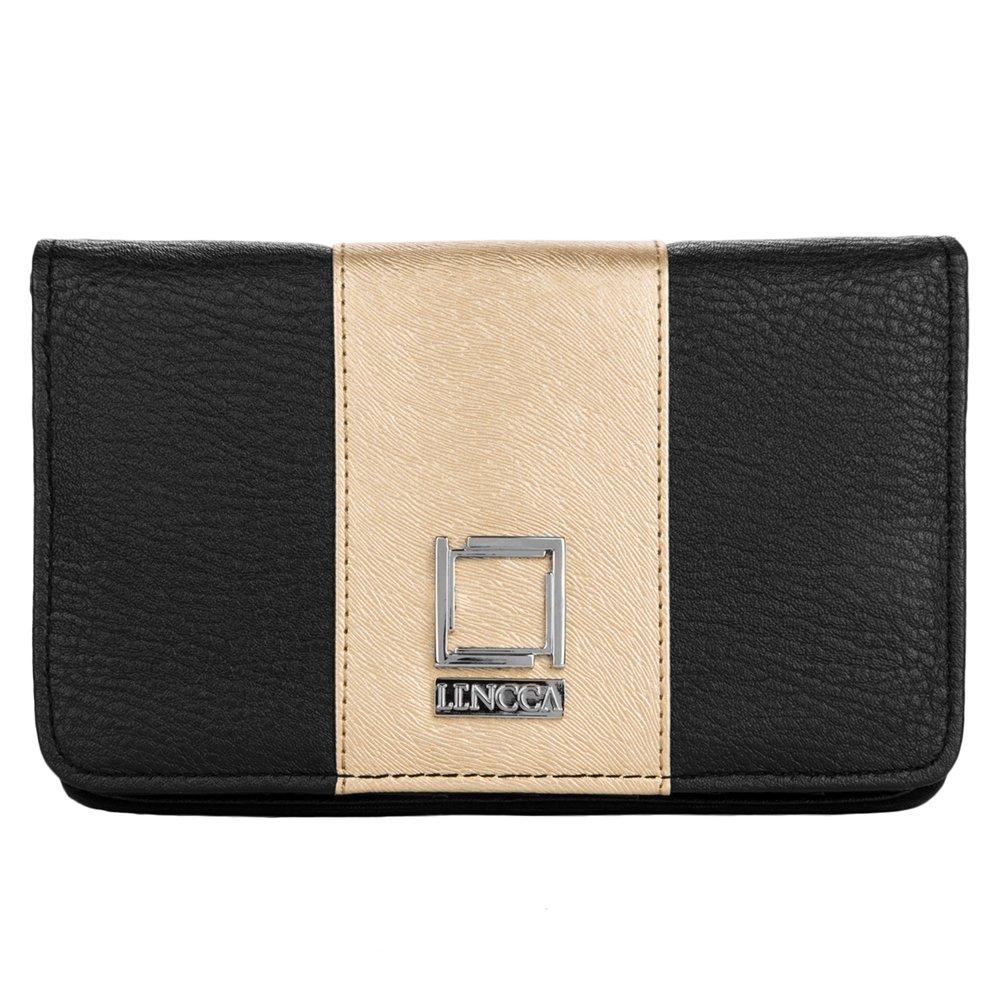 Wallet Clutch Black / Gold Case for BLU Phones by BestPriceCenter