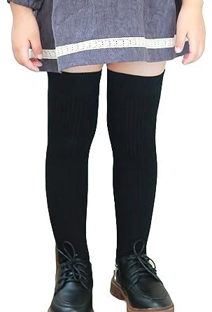 2aea9aa27 American Trends Children Unisex Over Knee High Socks Cotton Crochet Kids  Girls School Uniform Casual Long