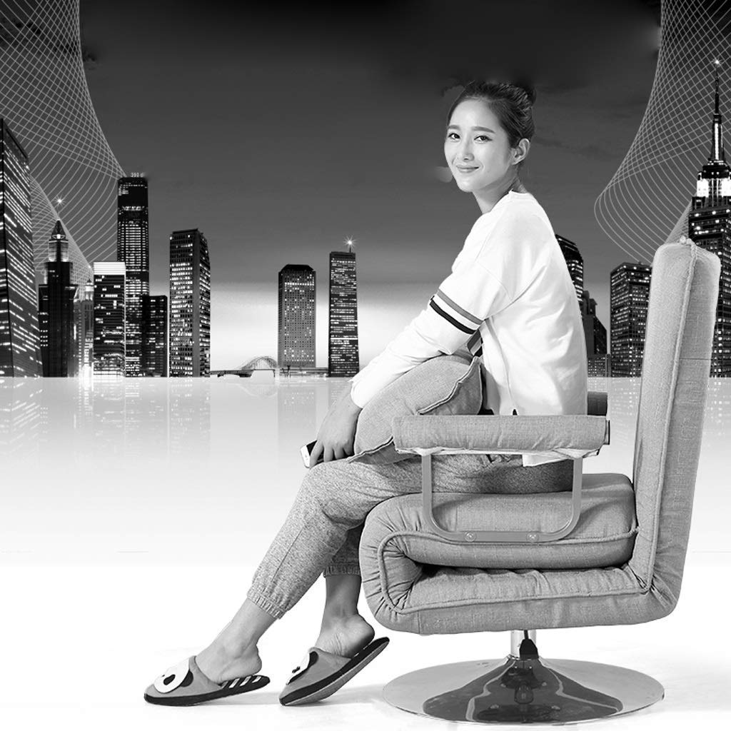 GCCI Deck Chair Office Klappstuhl Lunch Break Recliner Verstellbarer Stuhl,rot, Rot