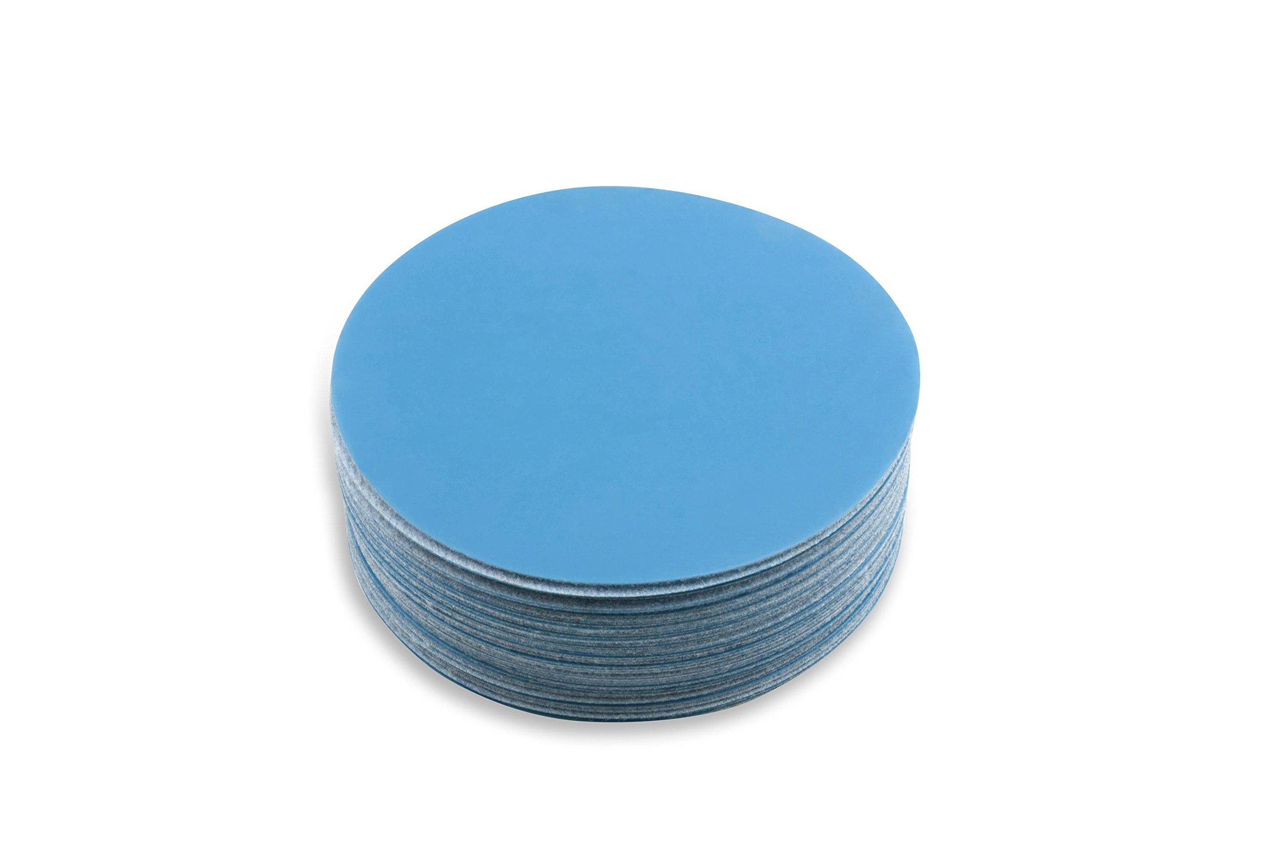 6 Inch 1500 Grit Hook and Loop Metal Sharpening/Polishing Film Sanding Discs, 50 Pack by Red Label Abrasives