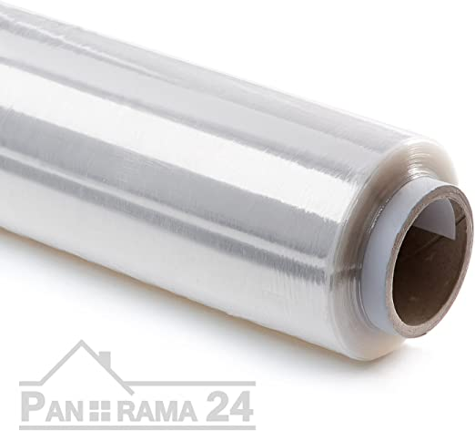 6 Rollen Stretchfolie 300 m x 50 cm 23 my transparent