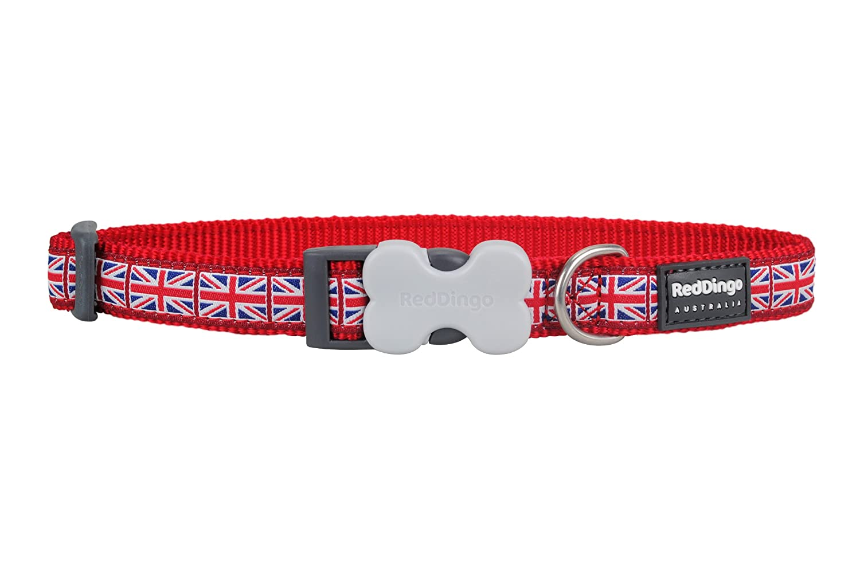 Red Dingo Unión Jack Bandera diseño Collar de Perro, L, 25 mm, 41 ...