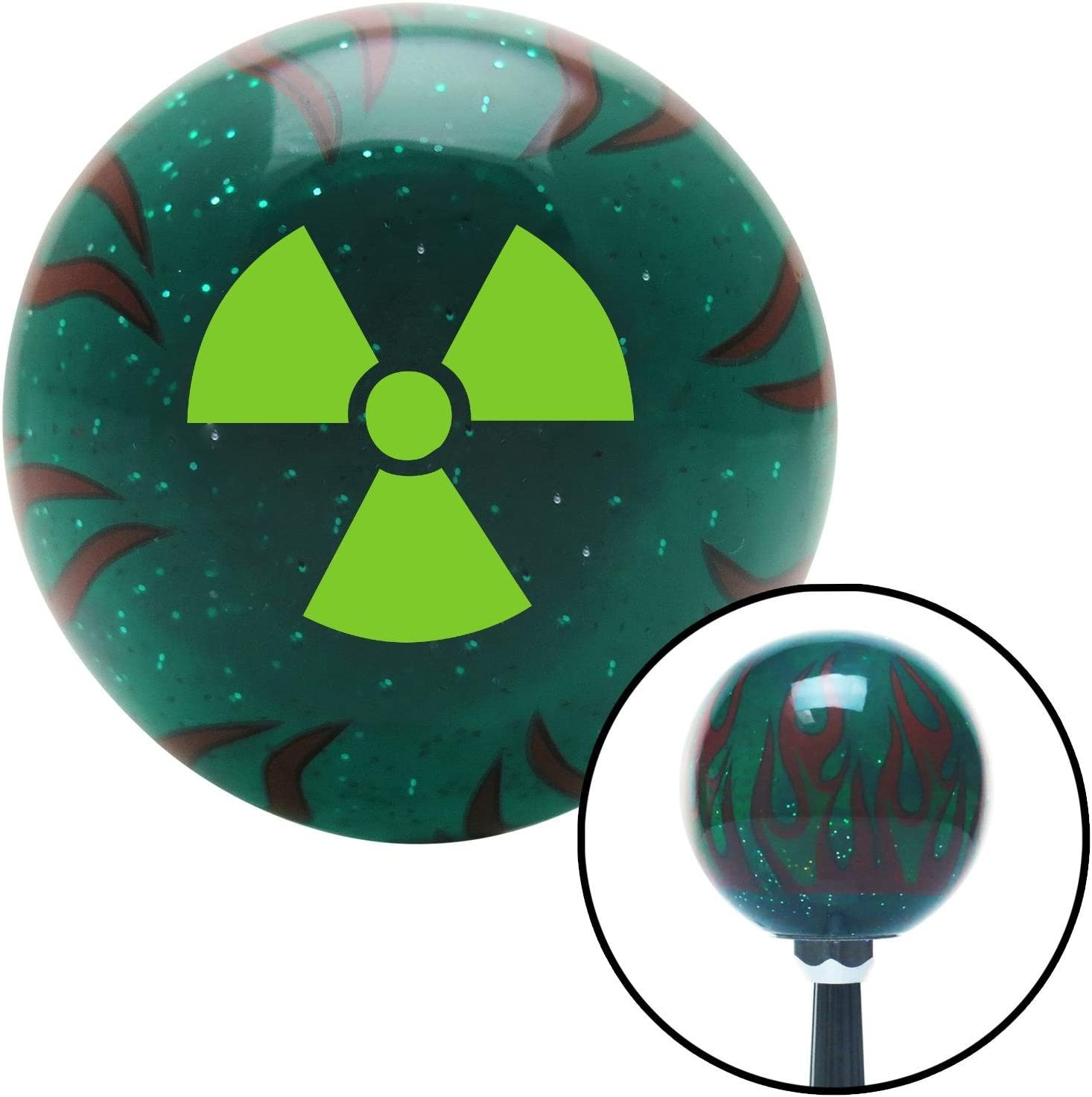 Yellow Symbol of Islam American Shifter 263531 Green Flame Metal Flake Shift Knob with M16 x 1.5 Insert