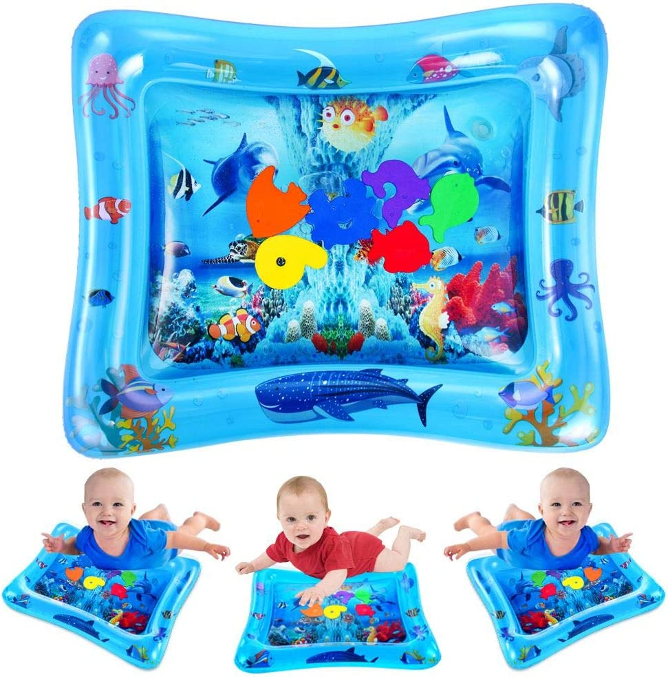 Funny Inflatable Water Play Mat Infants Baby Toddlers Pool Fun Tummy Time Play