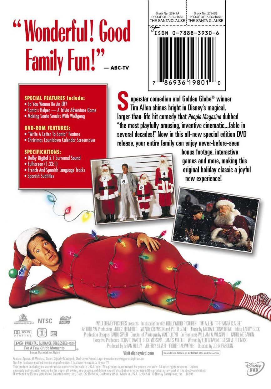 Uncategorized Santa Claus In Spanish amazon com the santa clause full screen special edition tim allen peter boyle judge reinhold david krumholtz mary gross er