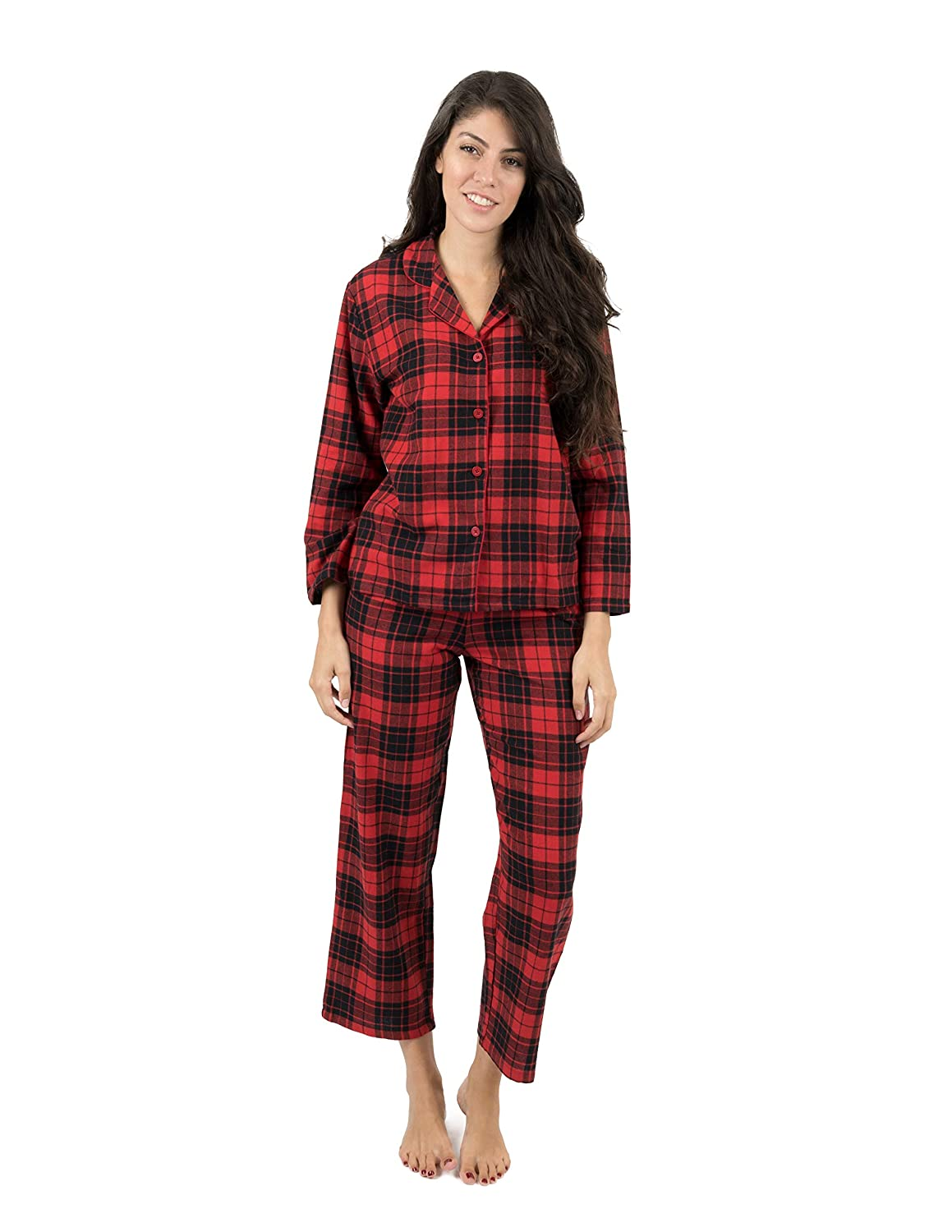 Leveret Womens Flannel Pajamas 2 Piece Christmas Pajama Set Size X-Small-XX-Large  at Amazon Women s Clothing store  6949bbe72