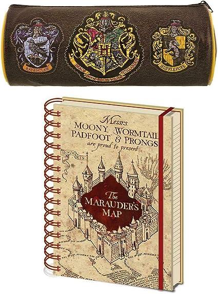 Harry Potter Hogwarts caja de lápiz de Mapa Notebook Set de ...