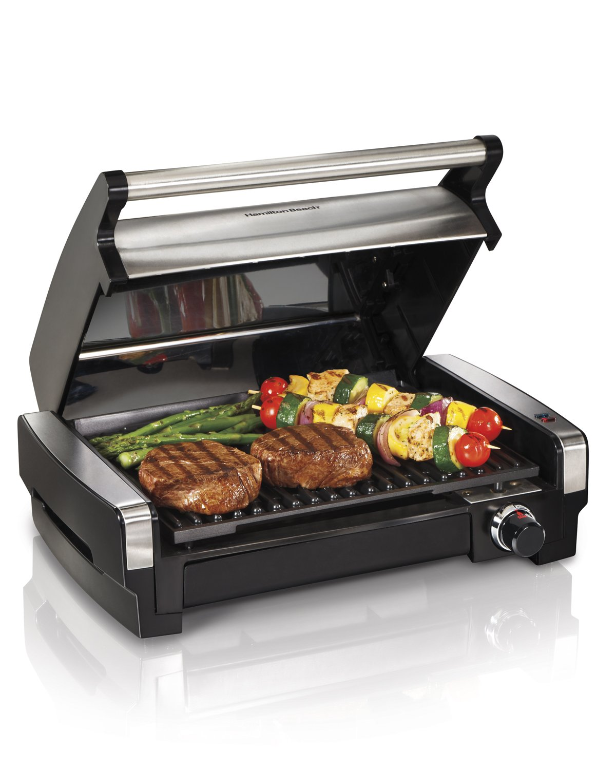 Amazon.com: Hamilton Beach 25360 Indoor Flavor/Searing Grill: Electric  Contact Grills: Kitchen U0026 Dining