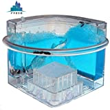 Forin Ant Castle Fram With Feeding System, Newfangled Toy For All Ages, Bioscience Learning, Observing Ant Habit Big Size Color Blue