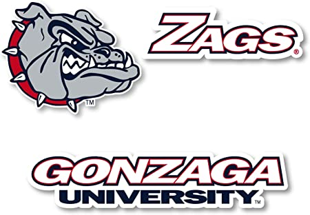 R and R Imports Gonzaga Bulldogs 4 Inch State Shape Vinyl Decal Sticker