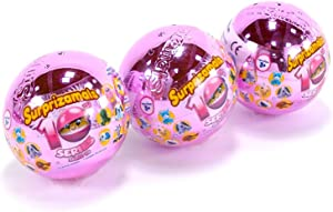Surprizamals, Mystery Balls with Collectible Plush Toy, 3 Pack