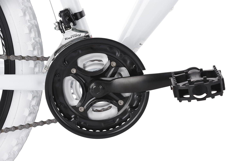 KS Cycling Erwachsene Mountainbike MTB Fully 26 Topspin wei/ß-blau Fahrrad