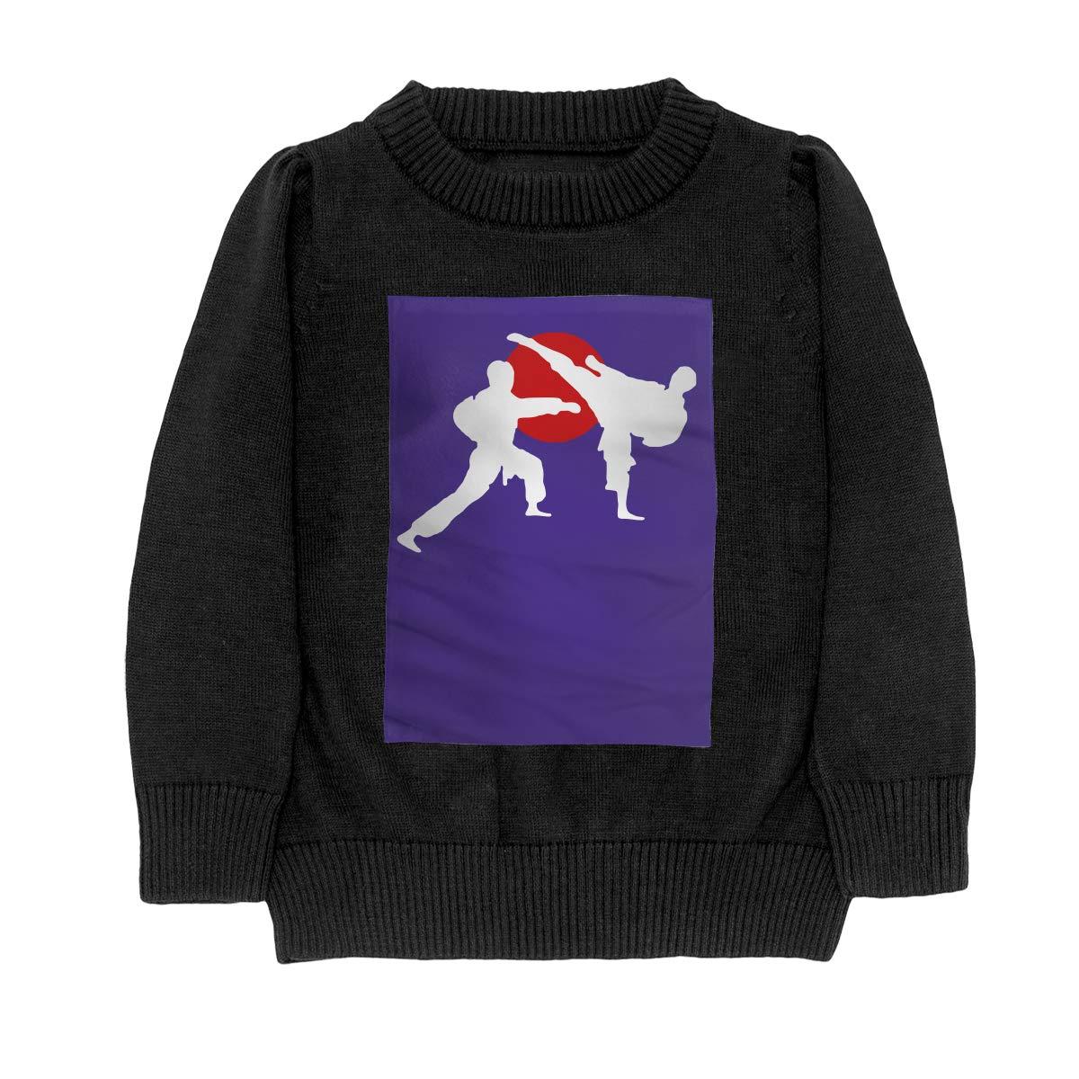 WWTBBJ-B Two Karate Fighter Fashion Teenager Boys Girls Unisex Sweater Keep Warm
