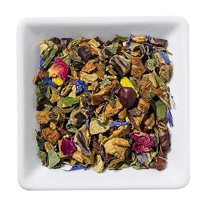DUAL Happy Delight Tea Infusión 100% Natural Enriquecida Con Vitaminas Té de hojas sueltas 100g Bebida Refrescante Con Sabor a Chocolate y Vainilla ...