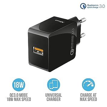 Trust Urban - Cargador USB de Pared ultrarrápido con QC3.0 y ...