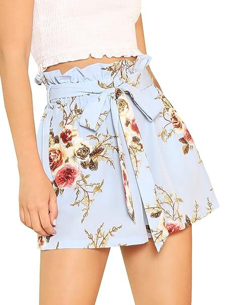 SheIn - Pantalones Cortos de Cintura para Mujer  Amazon.com.mx  Ropa ... 01ca8e98c046
