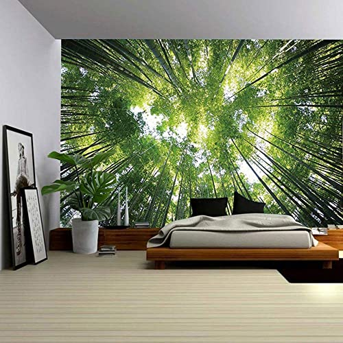 ENJOHOS Green Nature Forest Under Sky Tapestry Wall Hanging 3D Trees Print Wall Art Hanging Large Wall Tapestry Decor for Bedroom Dorm, W90 x T71