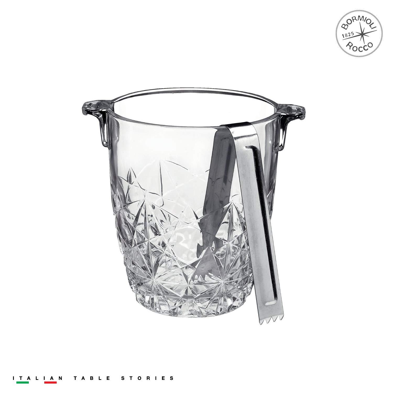 Bormioli Rocco Dedalo Ice Bucket with Tongs Bormioli Rocco Glass Co. Inc. 226070GQ2021990